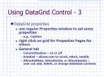 using datagrid control 3