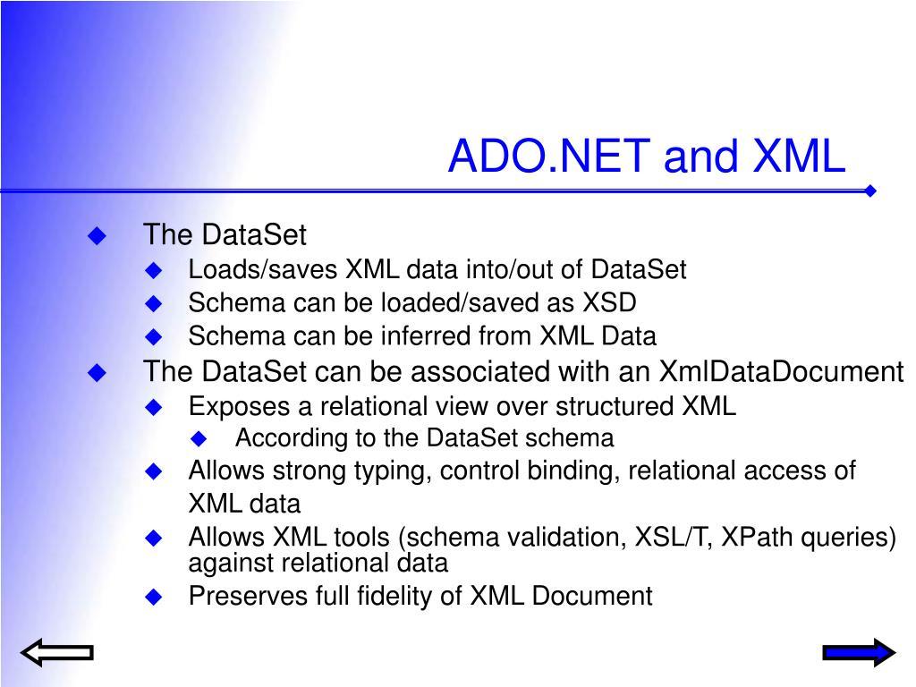 ADO.NET and XML