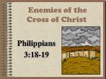 enemies of the cross of christ