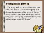 philippians 3 18 19