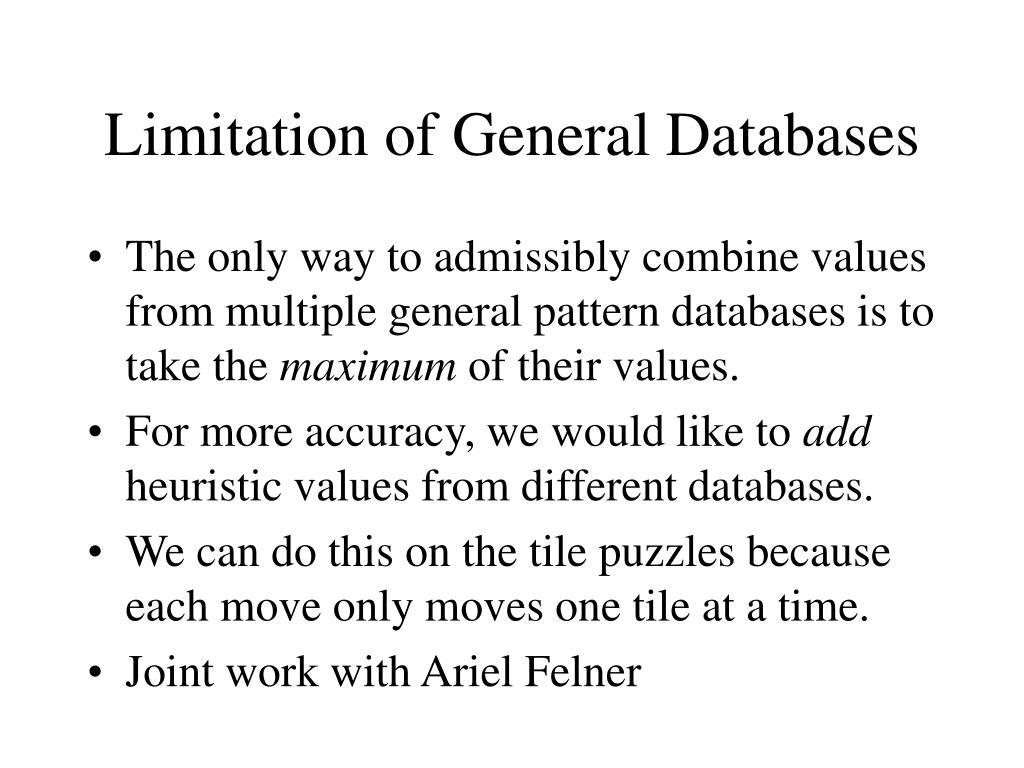 Limitation of General Databases