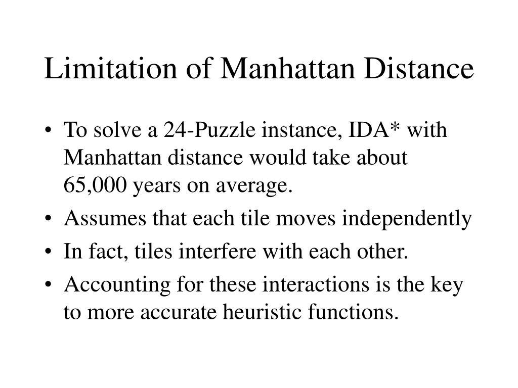Limitation of Manhattan Distance