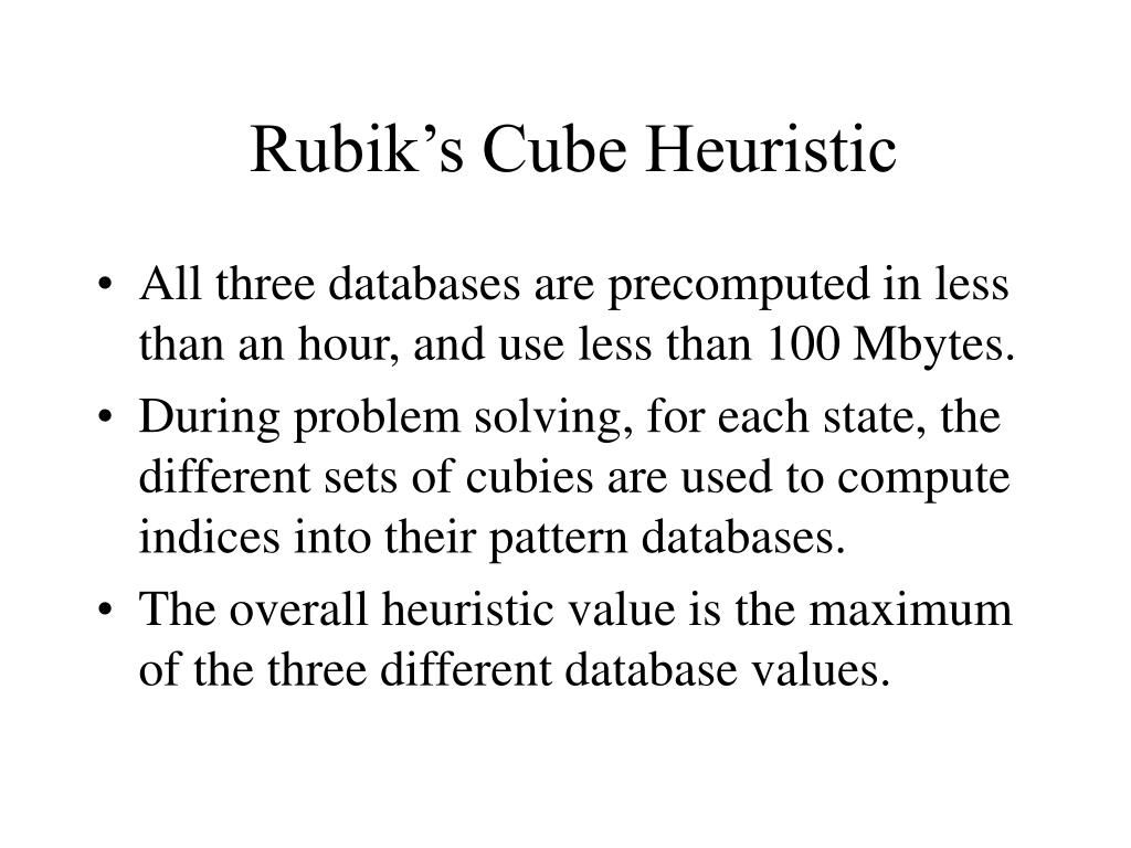 Rubik's Cube Heuristic