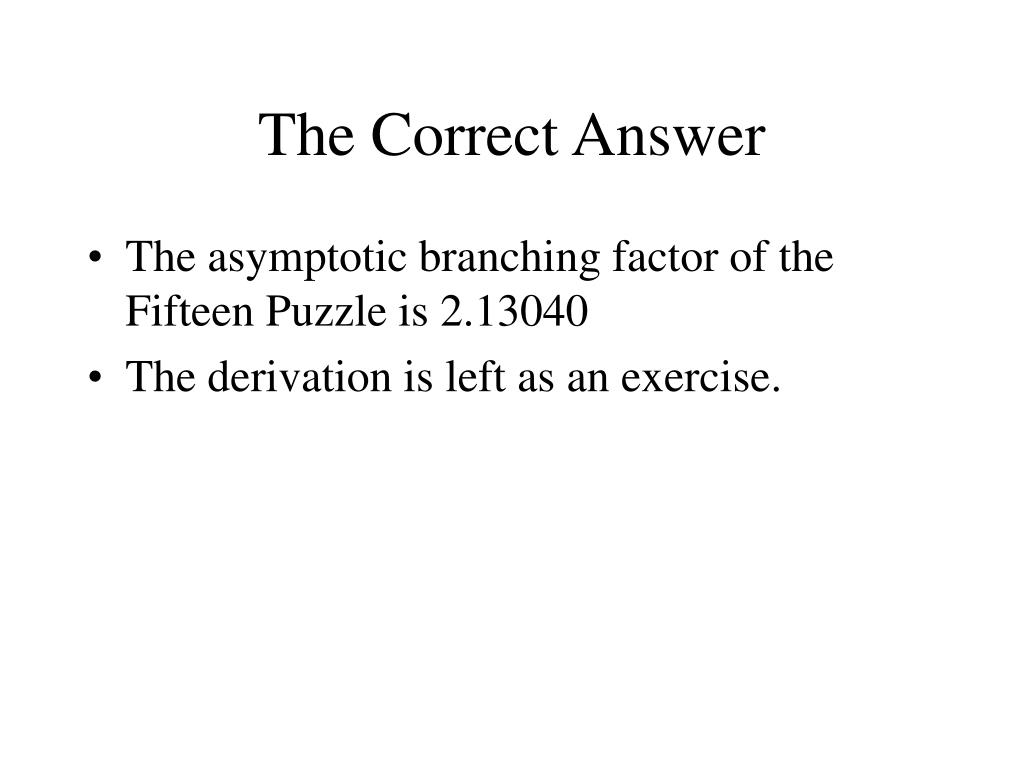 The Correct Answer