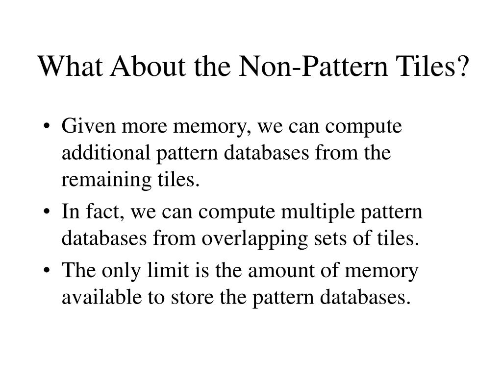 What About the Non-Pattern Tiles?