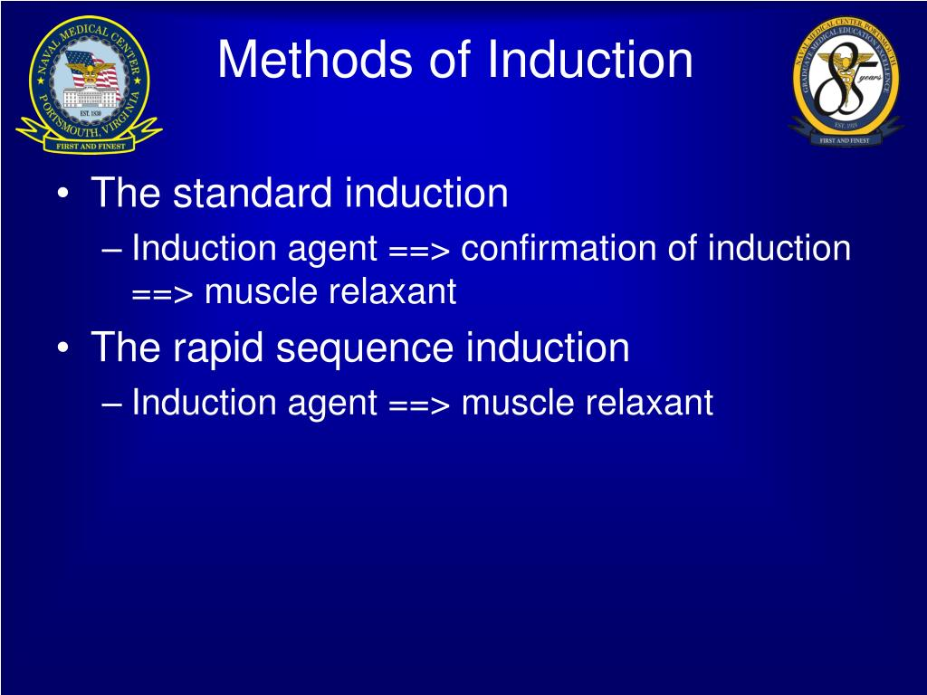 Methods of Induction