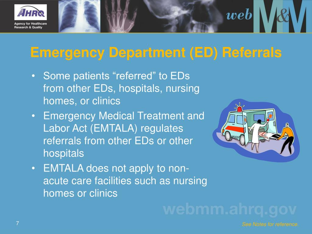 Emergency Department (ED) Referrals