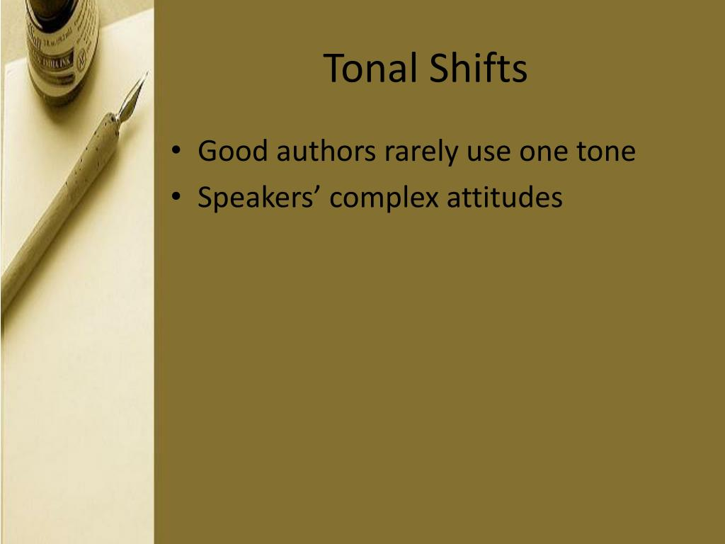Tonal Shifts