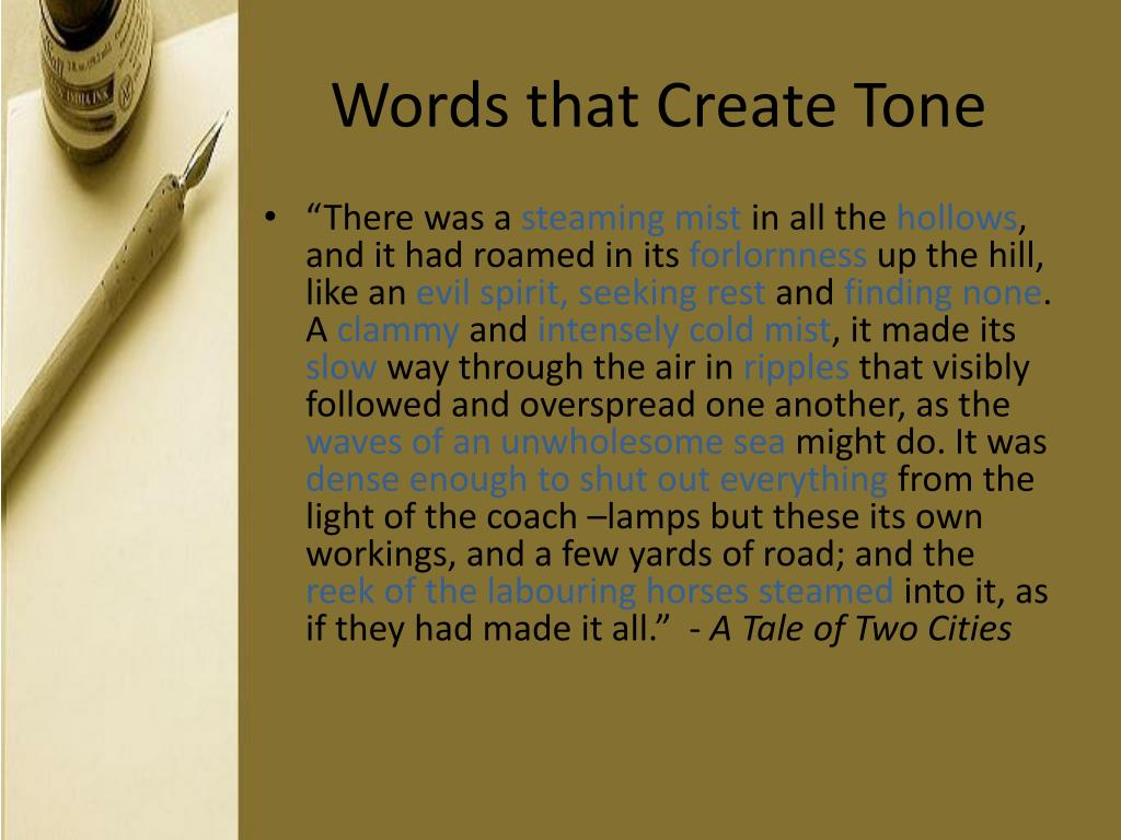 Words that Create Tone