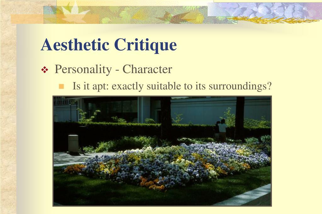 Aesthetic Critique