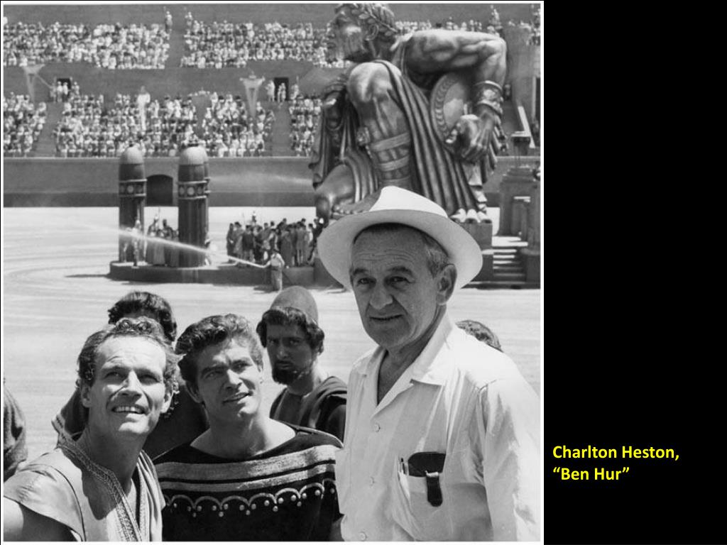 """Charlton Heston, """"Ben Hur"""""""