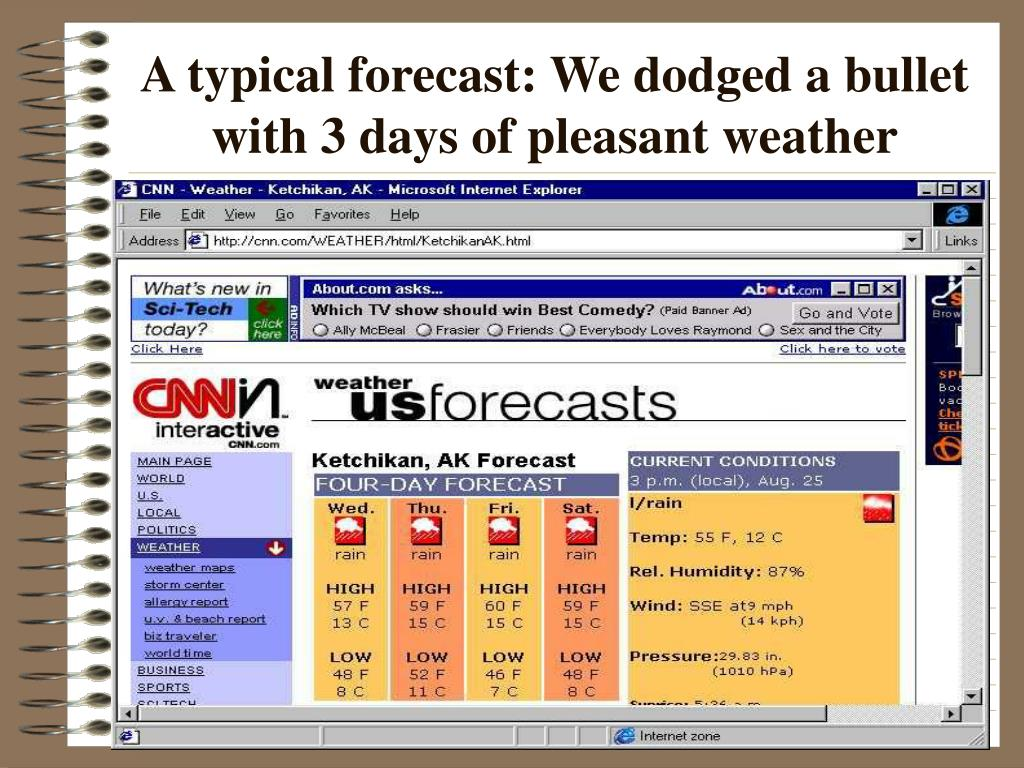 A typical forecast: We dodged a bullet with 3 days of pleasant weather