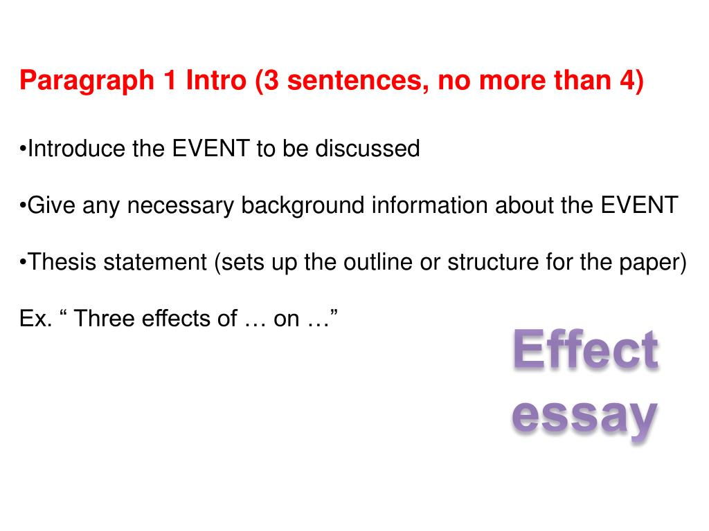 Thesis Statement Cause Effect Essay
