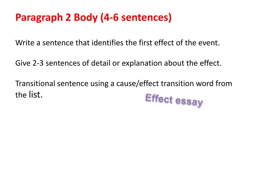 Paragraph 2 Body (4-6 sentences)