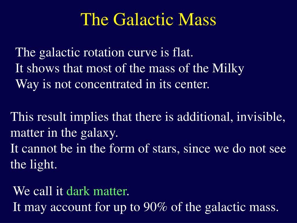 The Galactic Mass