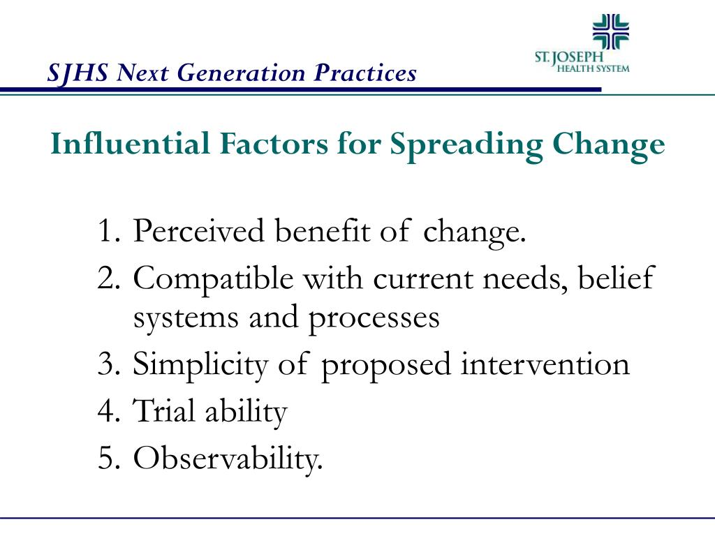 Influential Factors for Spreading Change