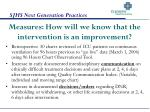 measures how will we know that the intervention is an improvement
