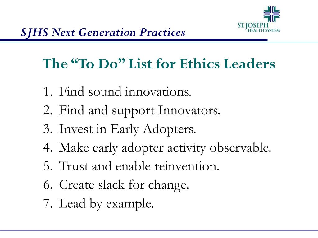"The ""To Do"" List for Ethics Leaders"