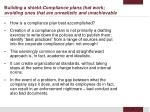 building a shield compliance plans that work avoiding ones that are unrealistic and unachievable