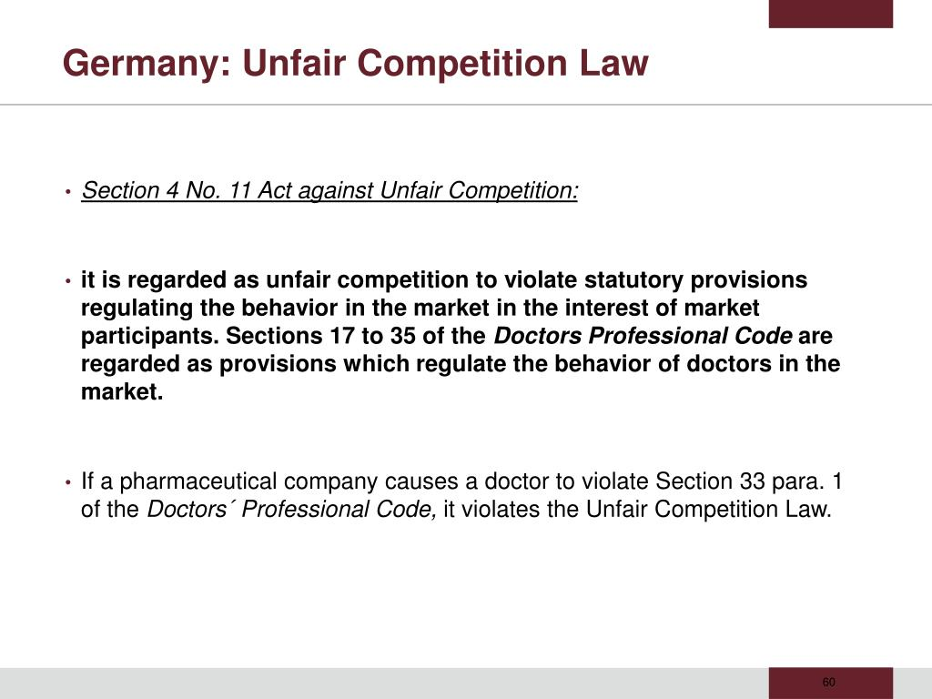 Germany: Unfair Competition Law