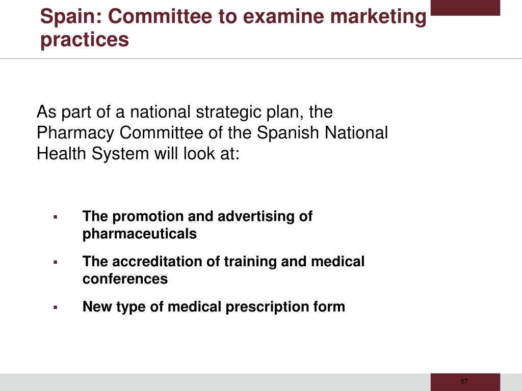 Spain: Committee to examine marketing practices
