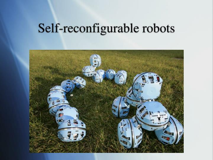 Self reconfigurable robots