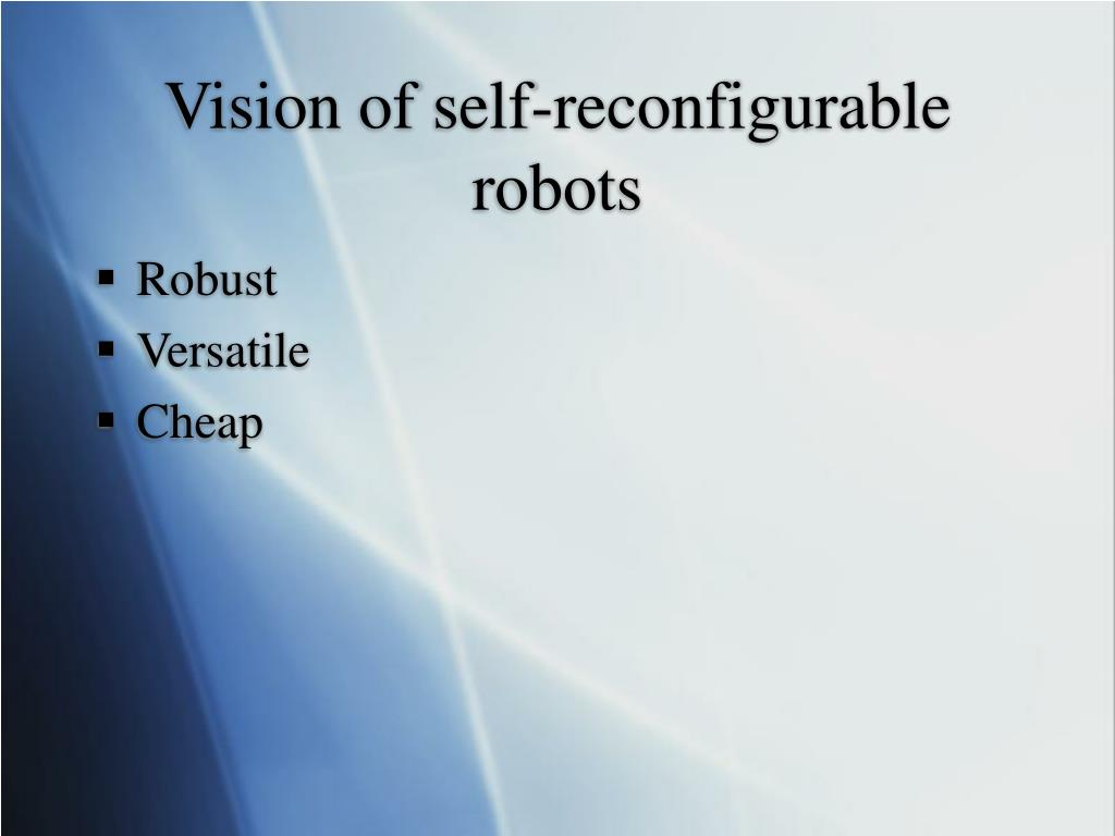 Vision of self-reconfigurable robots
