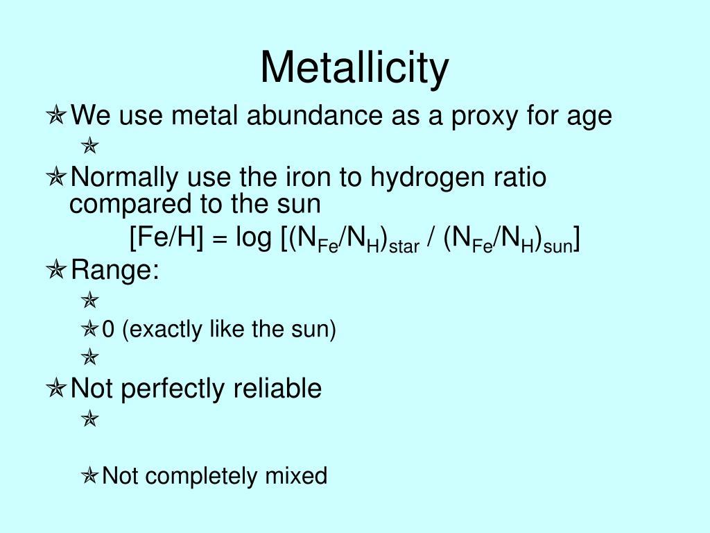 Metallicity