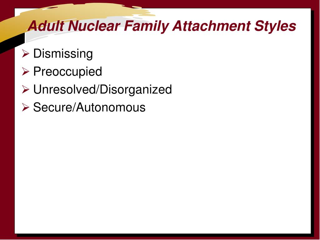 Adult Nuclear Family Attachment Styles