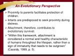 an evolutionary perspective