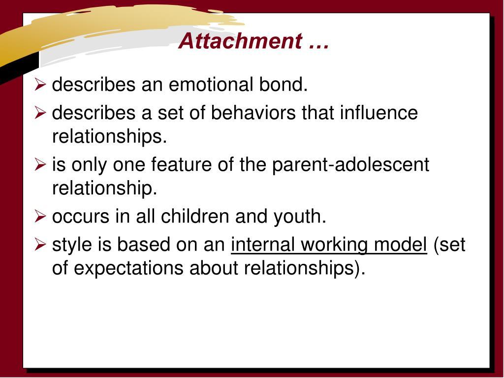 Attachment …