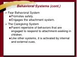 behavioral systems cont
