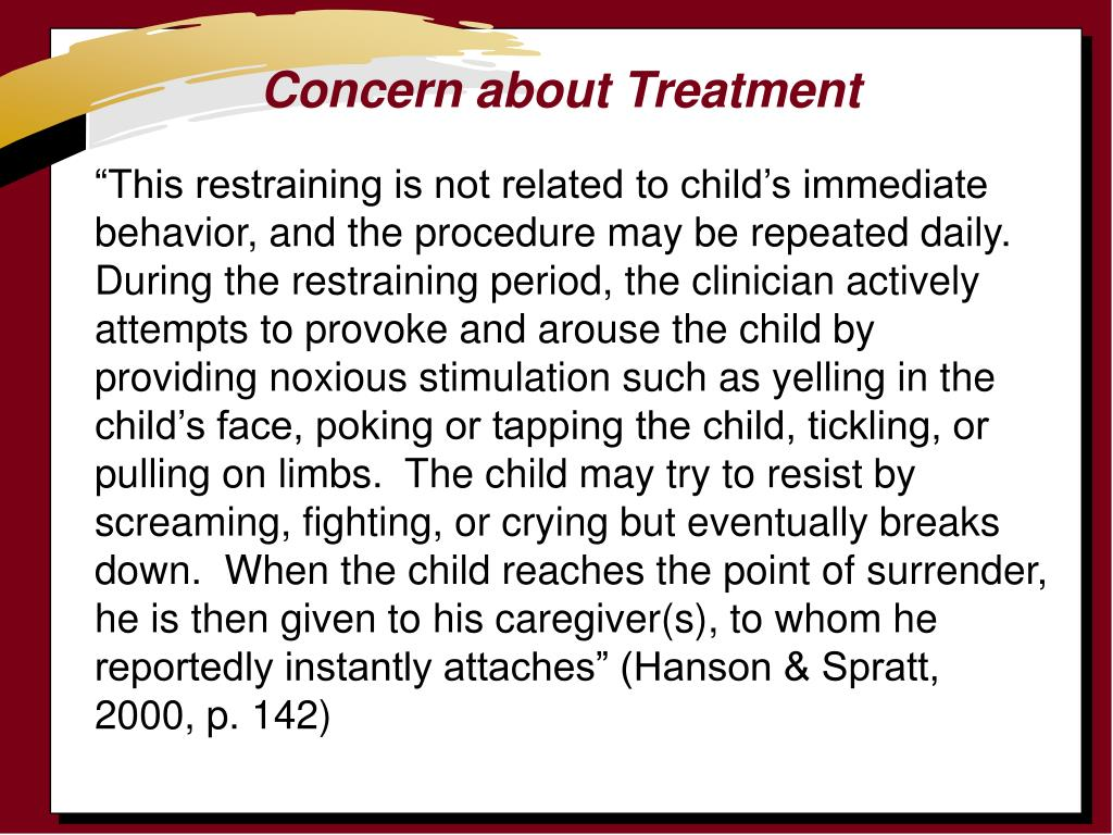Concern about Treatment
