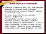 dismissing adult attachment