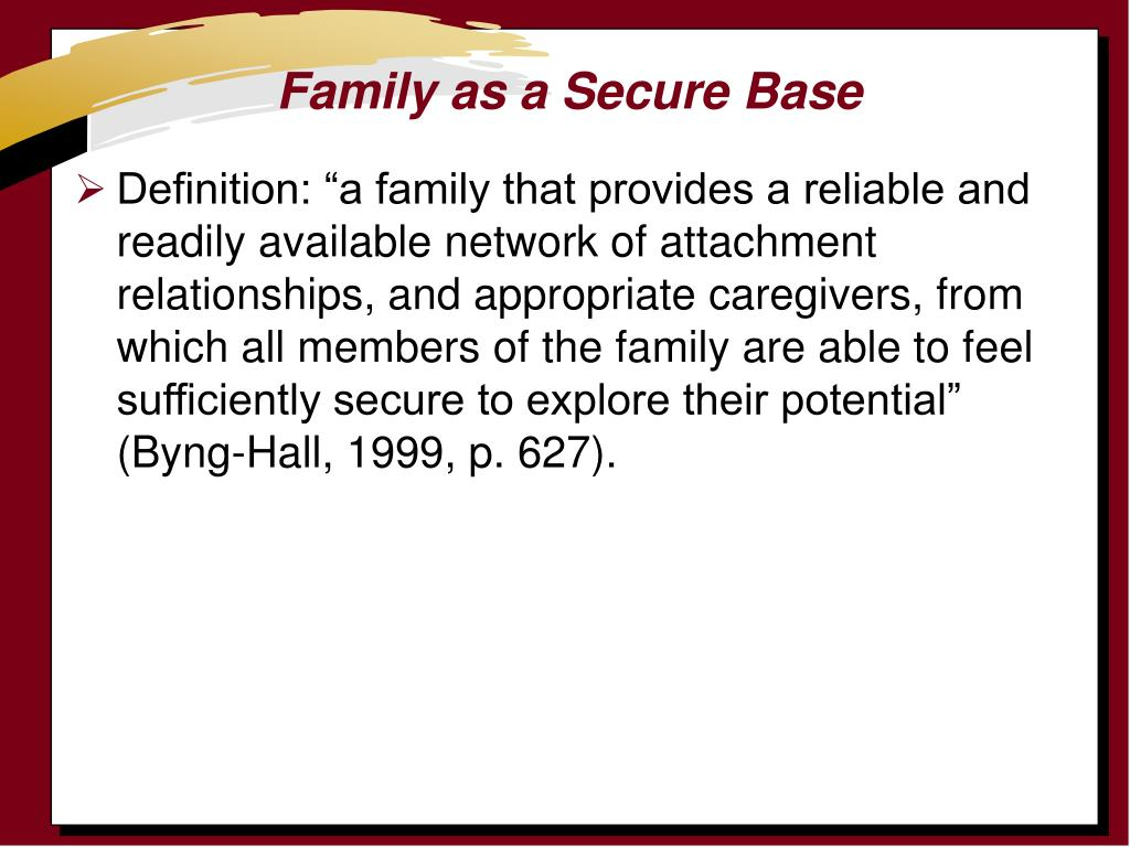 Family as a Secure Base