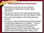 preoccupied adult attachment