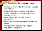 promoting secure attachment