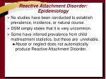 reactive attachment disorder epidemiology