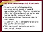 secure autonomous adult attachment