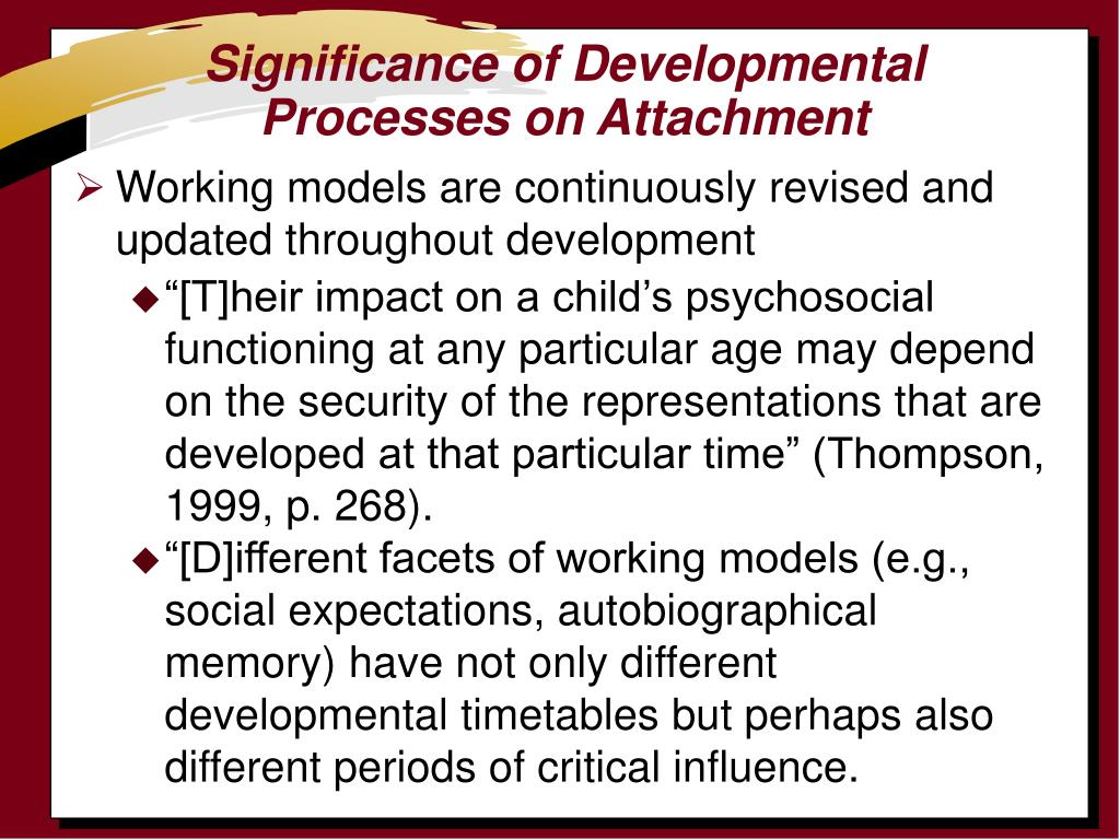Significance of Developmental Processes on Attachment
