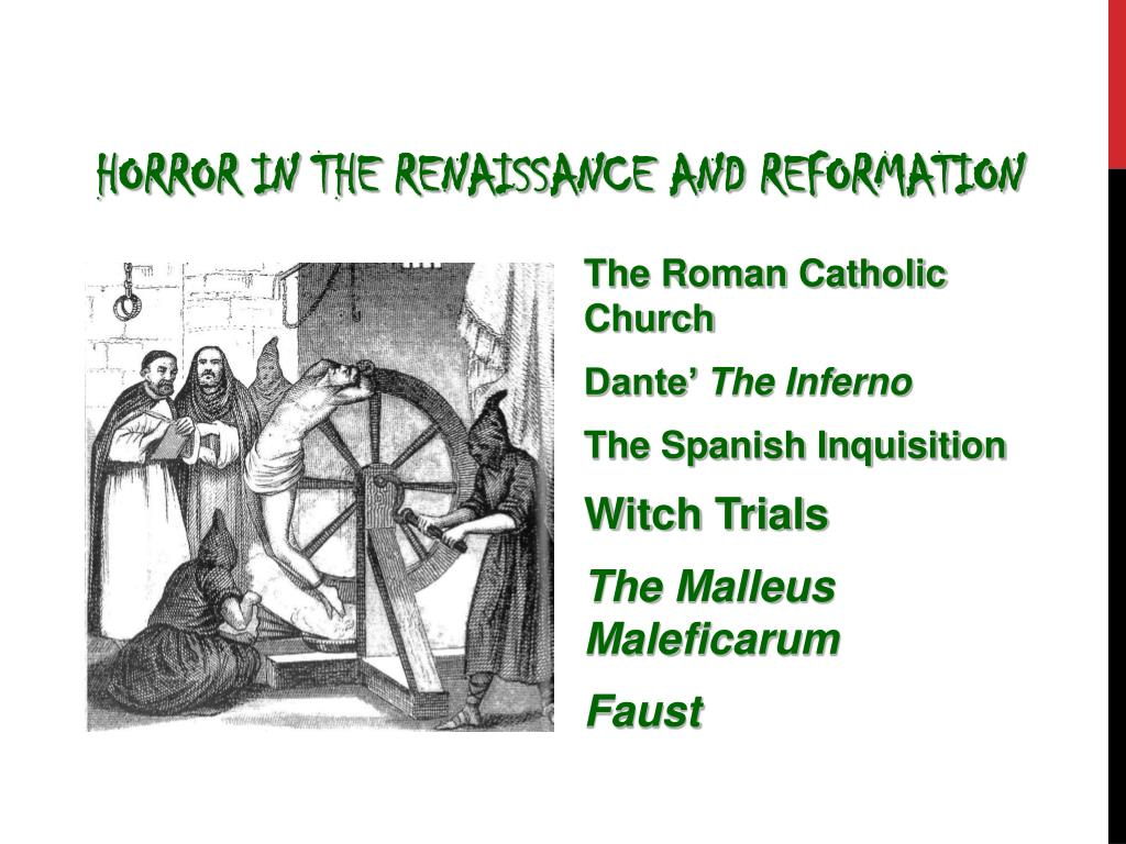 Horror in the Renaissance and Reformation