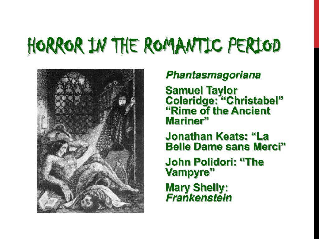 Horror in the Romantic Period