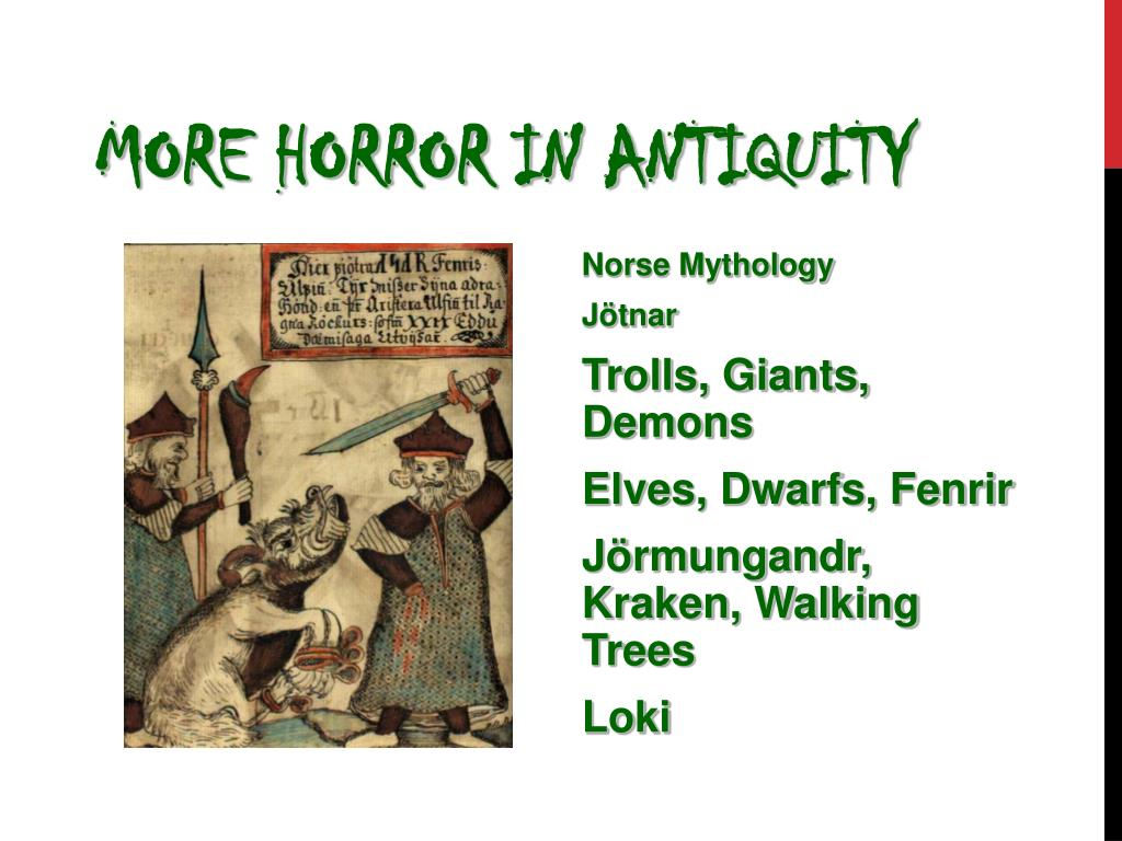More Horror in Antiquity