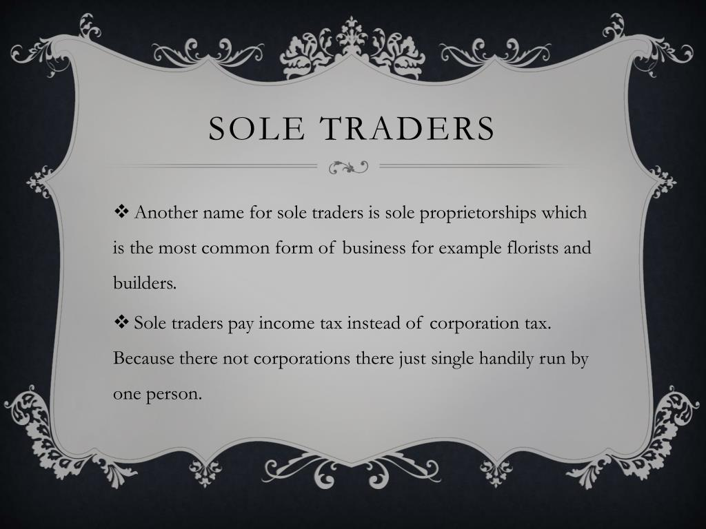Sole traders