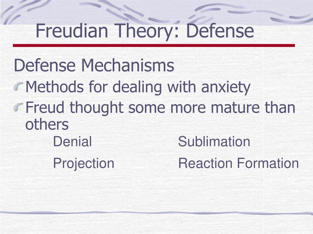 Freudian Theory: Defense