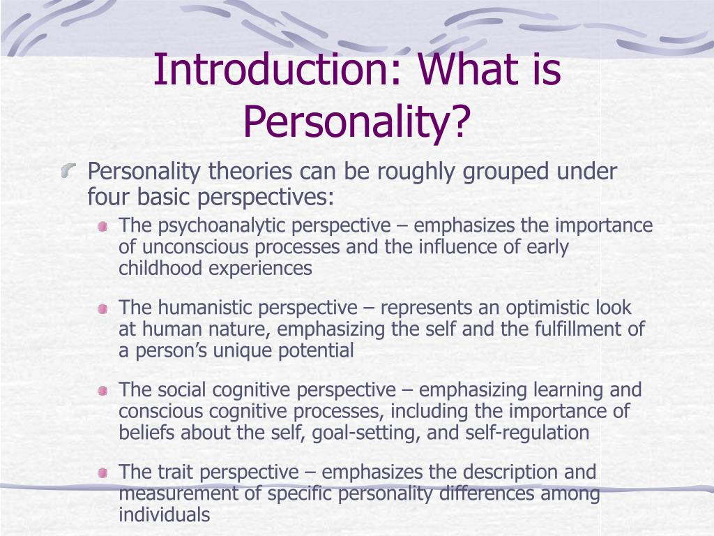 Introduction: What is Personality?