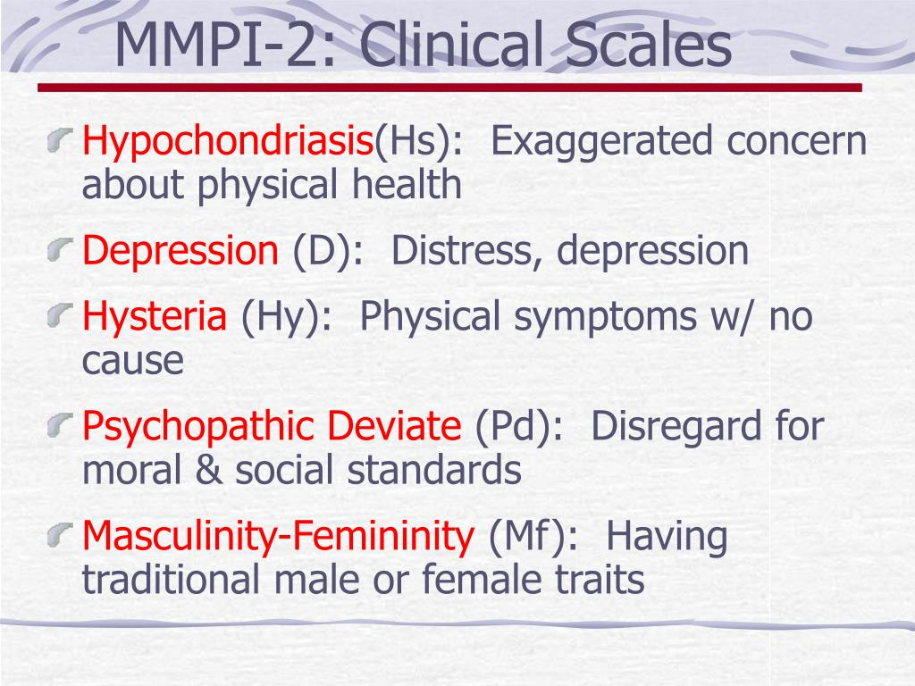 MMPI-2: Clinical Scales