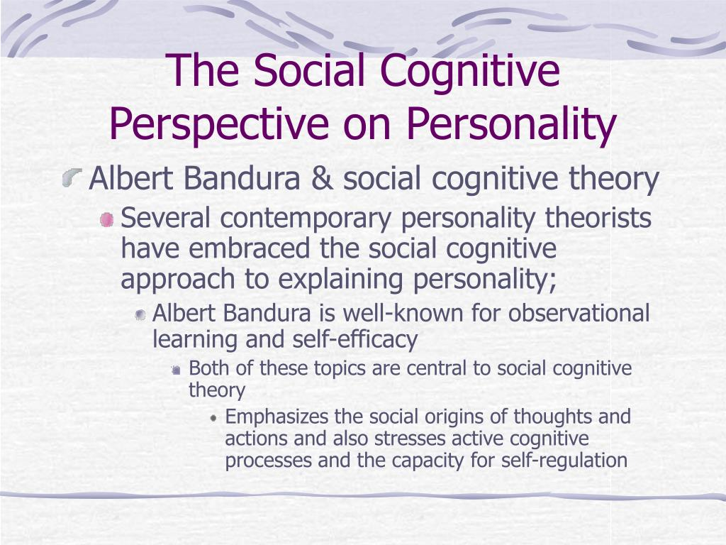 The Social Cognitive Perspective on Personality