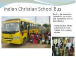 indian christian school bus