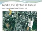 land is the key to the future